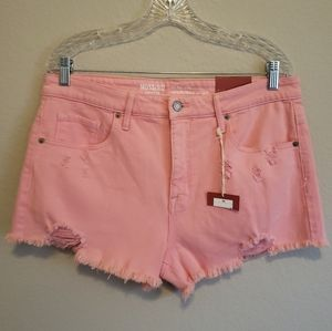 4/$25 Mossimo High Rise Distressed Jean Shorts
